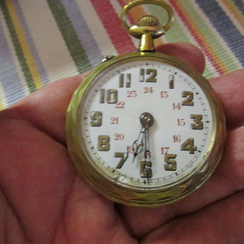 Roscoff patent swiss pocket watch in cool case - Pocket Watches