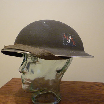 British Army Film Photographic Unit steel helmet. WWII.