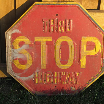 Stop Stop Sign - Signs