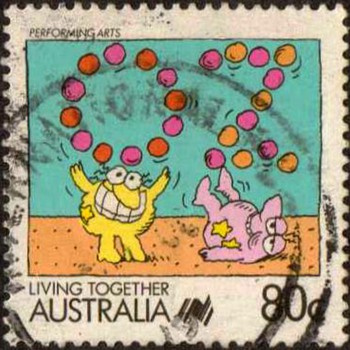 "1988 - Australia ""Living Together"" Postage Stamp - Stamps"