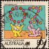 """1988 - Australia """"Living Together"""" Postage Stamp"""