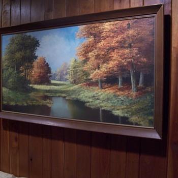 C. Verkerk landscape oil on canvas-barn find - Fine Art