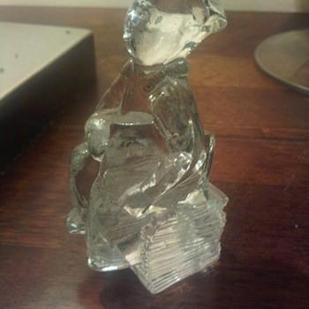 Kosta Boda paper boy miniature sculpture signed GP - Art Glass