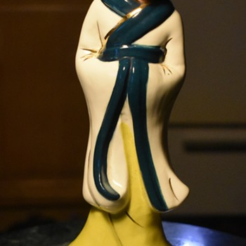 Asian Figurine - California? - Pottery