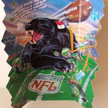 Carolina Panthers INAUGURAL ticket (ORIGINAL NEVER USED) - Football