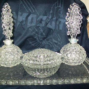 wright glass perfume dresser set