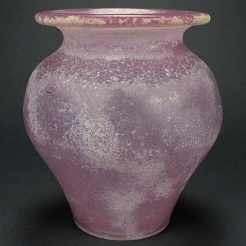 CENEDESE FOR SEGUSO VETRI D' ARTE MURANO SCAVO VASE - Art Glass