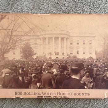 Egg Rolling White House Grounds Circa 1890 Photograph - Photographs
