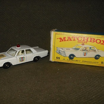 Multiple Models Matchbox Monday MB 55 Police Car 1967-1968 - Model Cars