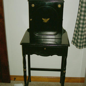 Vintage Black Telephone Cabinet & lower door