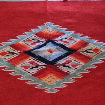 Vintage Mexican Saltillo Serape?  - Rugs and Textiles
