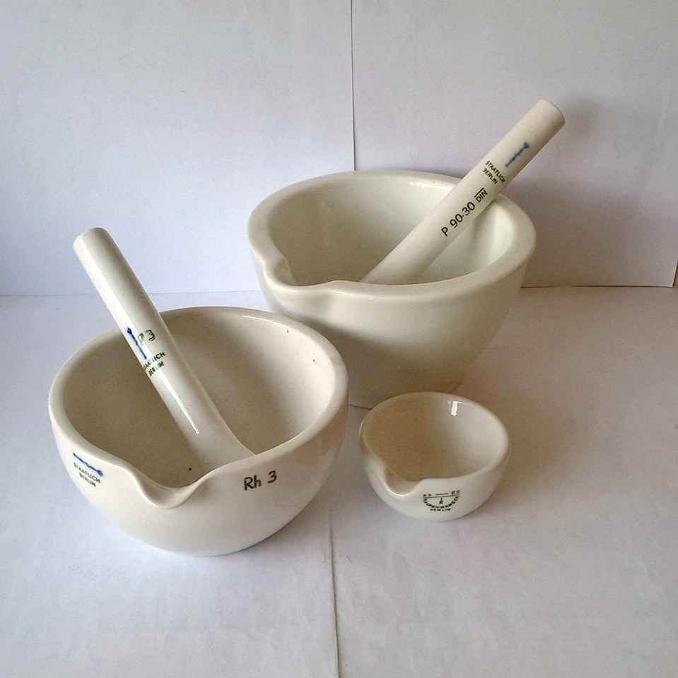 Laboratory Ceramics Mortar and Pestle Collection | Collectors Weekly for Laboratory Mortar And Pestle  155fiz