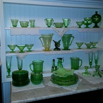 My Green Depression Glass Collection - Glassware