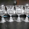 4 19th century flint ashburton goblets in mint condition