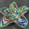 Murano - Floriform Bowl/Ashtray - Aventurine - 11""