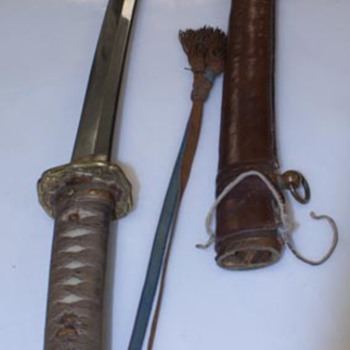 WWII Japanese Officers Samurai Sword - Military and Wartime