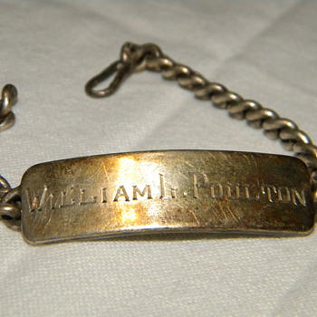 WWII Navy ID Bracelet - Military and Wartime