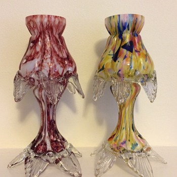 Welz small bubbles and swags - Art Glass