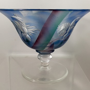 Adolf Rasche, Haida - Enameled Bowl, ca. 1931 - Art Glass