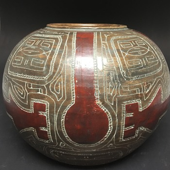 Brazilian Marajoara Terracotta Pot, South American Pottery  - Pottery