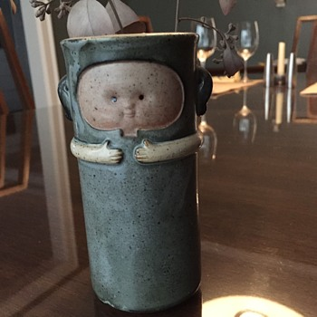 Kind of Creepy, Kind of Sweet Danish Vase - Pottery