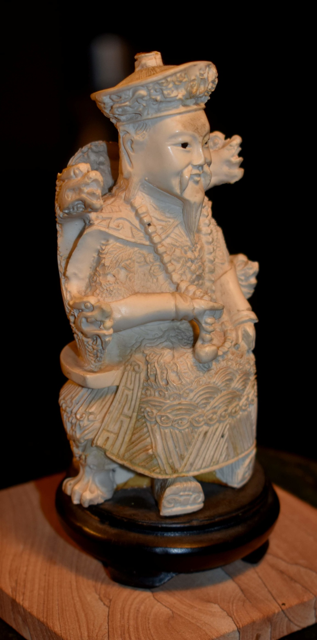 Hand Carved Statue Emperor Guardian Bone Resin Collectors Weekly