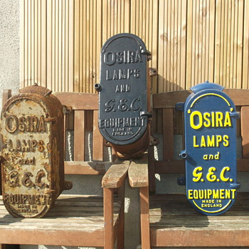 cast iron fuse boxes. - Lamps