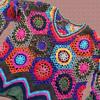 Colorful 1969 WOODSTOCK Festival WORN Crochet Top
