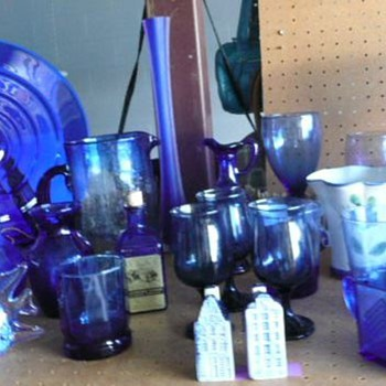 A collection of my Cobalt blue glass - Glassware