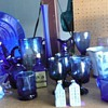 A collection of my Cobalt blue glass