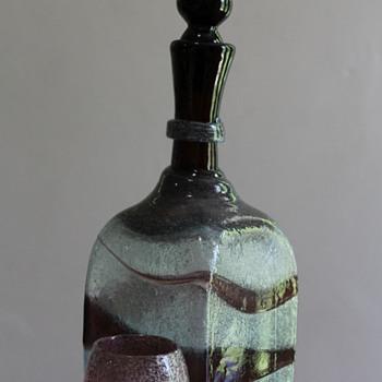 Ryuku Glass decanter and cup - Art Glass
