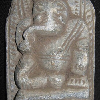 Vintage Ancient Old Hand Carved Sandstone Hindu God Ganapati Ganesha 5 to 6 Inches Small Figure - Asian