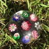 Clichy miniature spaced concentric millefiori paperweight