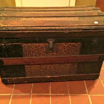 Antique trunk auction find... - Furniture