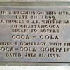Corner stone plaque
