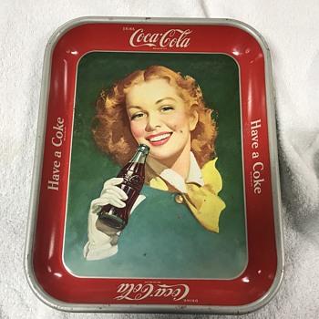 Coca Cola tray 1948  - Coca-Cola