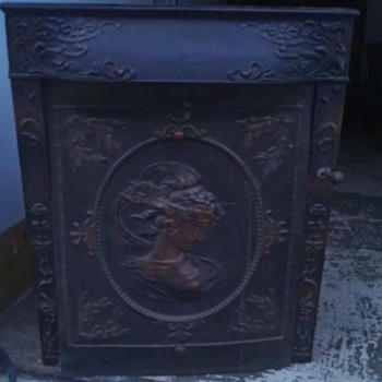"""The Buckeye"" Fireplace Insert Brass/Copper/Cast Iron.   - Victorian Era"