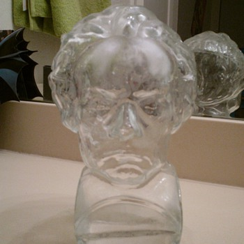 Beethoven Glass Bust - Art Glass