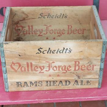 Scheidt's Valley Forge Beer Wood Crate - Advertising