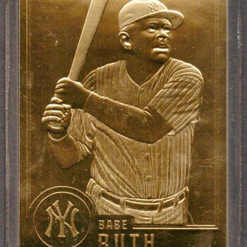 1996 - Babe Ruth Gold Card - Baseball