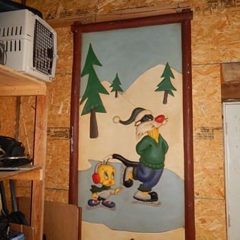 Sylvester and Tweety Ice Skating Wall Hanging - Advertising