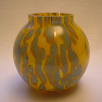 Czech Art Deco Welz Vase - Art Glass