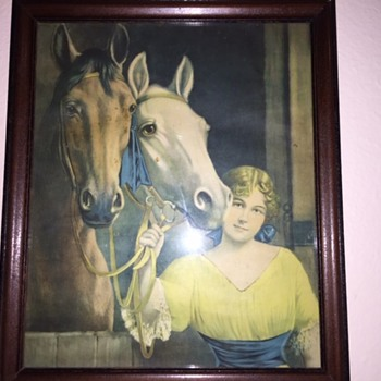 Western Art Print and Family Print to identify - Posters and Prints
