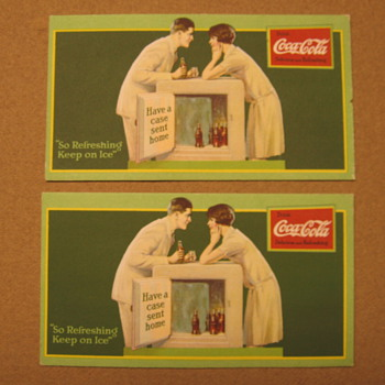1927 Coca-Cola Blotters - Coca-Cola