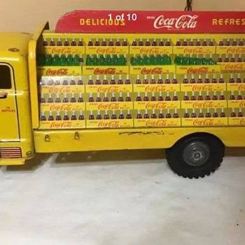 1950's Marx Coca Cola Tim toy delivery truck - Coca-Cola