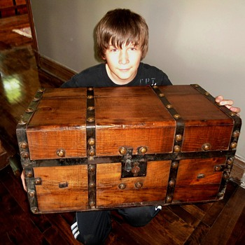 Trunk Boy Strikes with Civil War era Trunk - Furniture