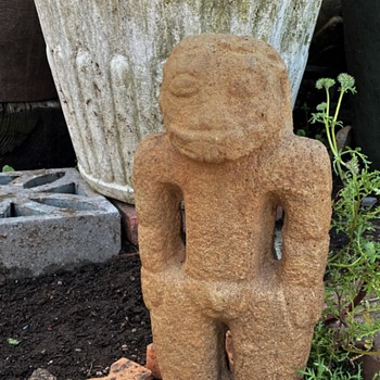 Large Carved Stone Figure from Costa Rica with BIG TEETH! - Native American