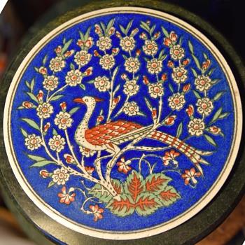 Round Tile / Plaque - Persian? Indian? - Animals
