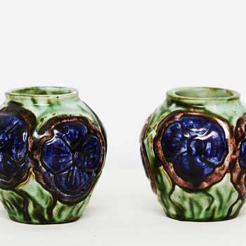 Two small vases from Roskilde Pottery (Denmark), 1917-1921 - Pottery