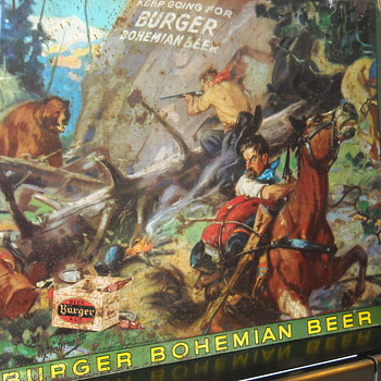 Hintermeister Burger Beer Metal Advertising Sign American Artworks Inc  - Breweriana